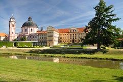 Old castle, Jaromerice nad Rokytnou, Czech republic,Europe. Park and old castle, Jaromerice nad Rokytnou, Czech republic,Europe Stock Photos