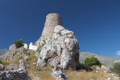 Old castle at Kalymnos island in Greece Royalty Free Stock Photography