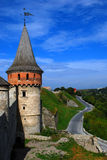 Old Castle. Kamianets-Podilskyi Castle is a former Ruthenian-Lithuanian castle and a later three-part Polish fortress located in the historic city of Kamianets royalty free stock photography