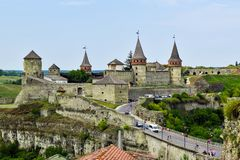 Kamianets-Podilskyi castle, Ukraine stock photos
