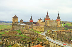 Old Castle in Kamyanets-Podilsky, Ukraine Stock Photography