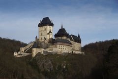 Old Medieval Castle. Karlstejn Castle - old medieval gothic castle. Landmark, Czech Republic royalty free stock photography