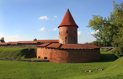 Old castle in Kaunas, Lithuania. Royalty Free Stock Image