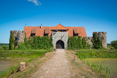 Old castle in Kiermusy Royalty Free Stock Photo
