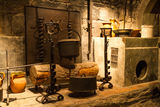 Old castle kitchen Royalty Free Stock Photo
