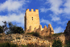 Old castle of the Knights Templar Stock Photography