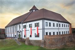 Old castle in Kozuchow at evening Stock Images