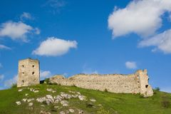 Old castle of Kudrinci village. stock photo