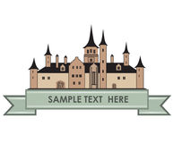 Old castle label. Retro  logo. Stock Images