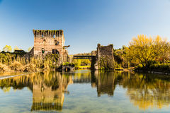 An old castle in the lake Royalty Free Stock Image