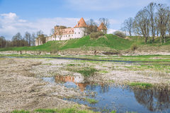 Old castle in Latvia, Bauska. Royalty Free Stock Photo