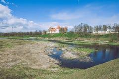 Old castle in Latvia, Bauska. Royalty Free Stock Image