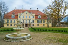 Old castle in Latvia. Royalty Free Stock Images