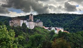 Old castle and town in Bohemia, Loket - Czech Republic Royalty Free Stock Photo
