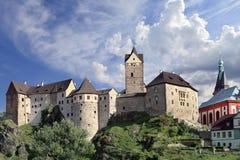 Old castle in Bohemia, Loket - Czech Republic Stock Image