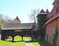 Old castle in Malbork / Marienburg. Poland Royalty Free Stock Image