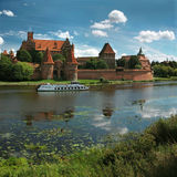 The old castle in Malbork - Poland. Panorama Stock Image