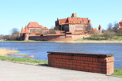 The old castle in Malbork - Poland. Stock Photo