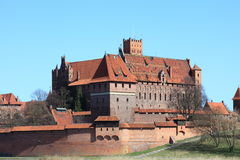 The old castle in Malbork - Poland. Royalty Free Stock Image