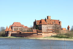 The old castle in Malbork - Poland. Stock Images