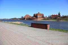 The old castle in Malbork - Poland. Stock Image