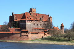 The old castle in Malbork - Poland. Royalty Free Stock Images