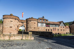 Old castle in medieval city of Buedingen Royalty Free Stock Image