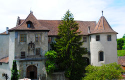 Old castle of Meersburg Stock Image