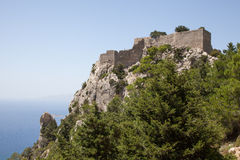Old castle of Monolithos, Rhodes Stock Photo