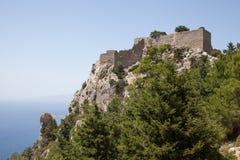 Old castle of Monolithos, Rhodes Stock Photo