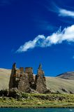 Old castle before a mountain. A thousands years old castle before a mountain Royalty Free Stock Image