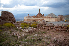 Old castle near Dogubayazit in Eastern Turkey. Old castle Ishak Pasha Palace near Dogubayazit in Eastern Turkey Stock Images