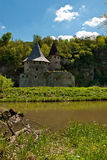 Old castle near river Royalty Free Stock Photo