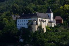 Old castle nearby the danube river Stock Images