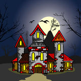 Old castle in the night Stock Image