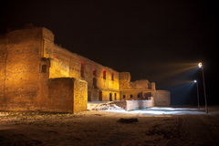 Old castle by night Royalty Free Stock Photo