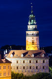 Old castle during the night in Cesky Krumov, Czech Republic Royalty Free Stock Image