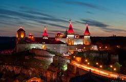 Old castle, night light Stock Image