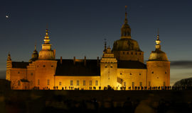 Old Castle in the Nightlight Royalty Free Stock Photography