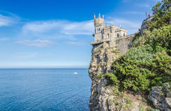 Old castle over the sea. Old castle on rock over the sea royalty free stock image