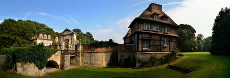 Old Castle Panorama Royalty Free Stock Image