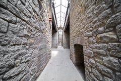 Old Castle passageway Stock Images