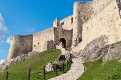 Old castle. Path leading to the top of Spissky Hdar / castle royalty free stock photo