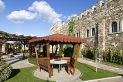 Old castle with patio Stock Photo