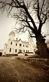 Old castle photo. Sepia toned Royalty Free Stock Photo