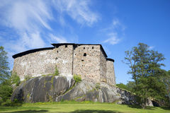 Old castle Raseborg on a granite rock. Finland Stock Photos