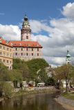 Old castle on the rock. Cesky Krumlov, Czech Royalty Free Stock Images