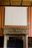 Old castle room. Blackboard in old castle room royalty free stock photos