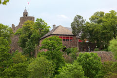 OLd castle ruin. A old castle ruin in city Saarburg, Rheinland-Pfalz, Germany Royalty Free Stock Images