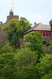 OLd castle ruin. A old castle ruin in city Saarburg, Rheinland-Pfalz, Germany Stock Photos